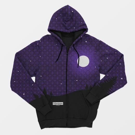 Månsken - Zip hoodie