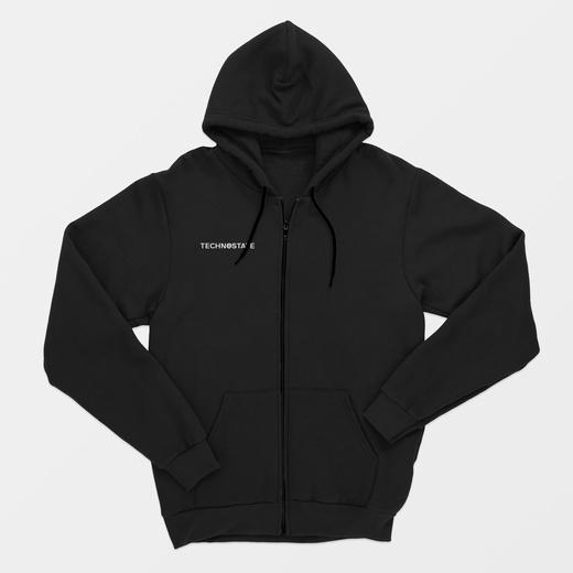 Technostate - zip hoodie black