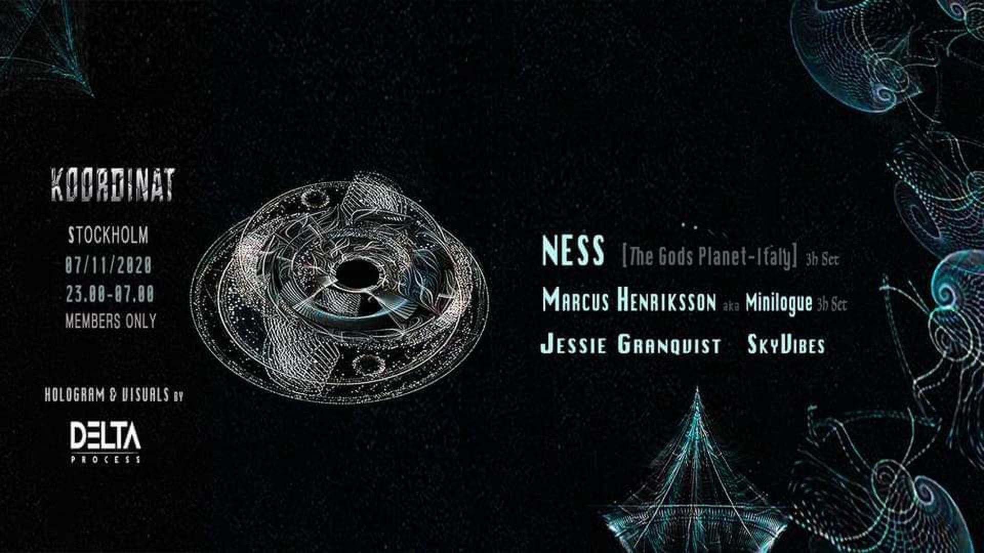 Event: Koordinat (Ness, Marcus Henriksson - Hologram Show by DeltaProcess)